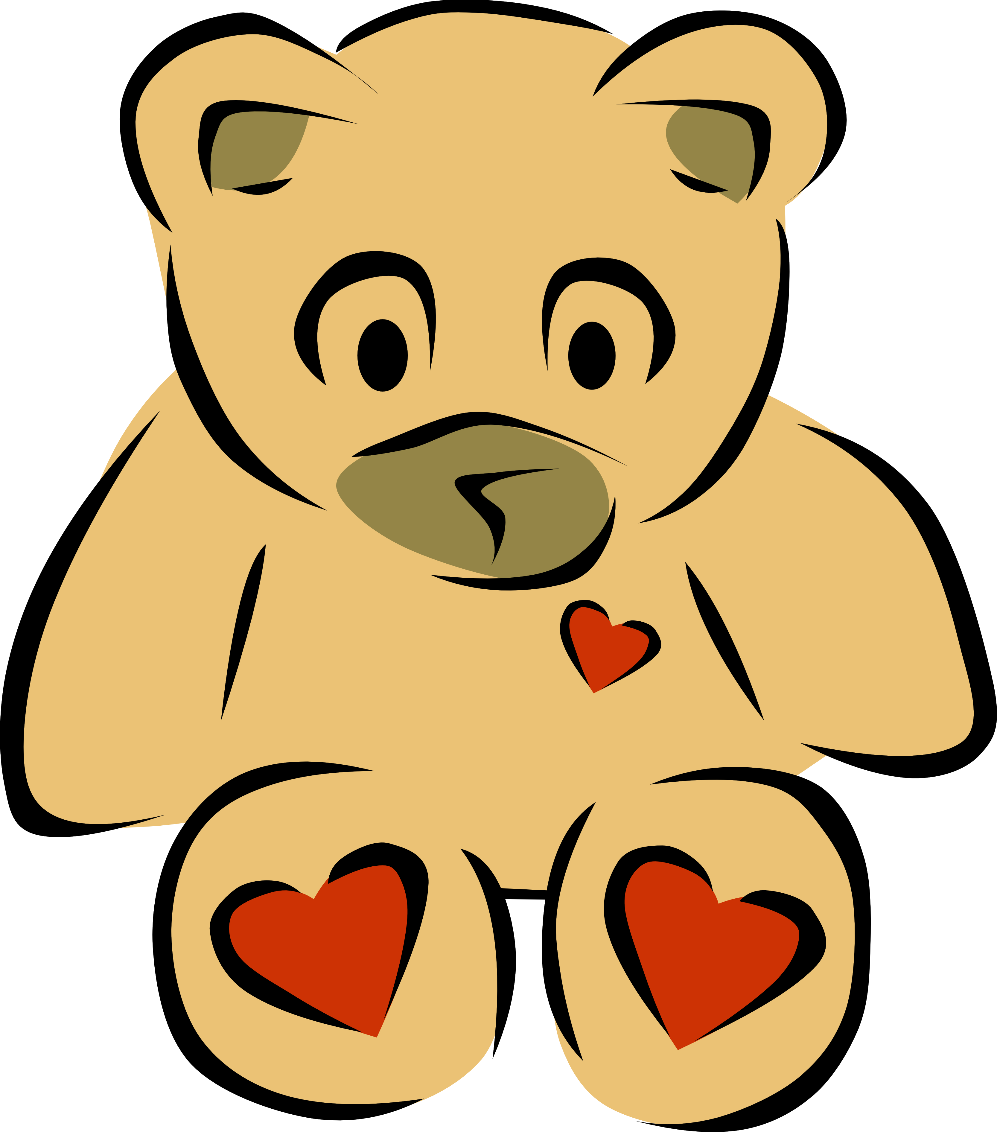 3333x3784 Vintage Bear Clip Art Free File Cute Teddy Vector