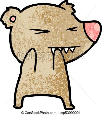 416x470 Angry Bear Cartoon Eps Vectors