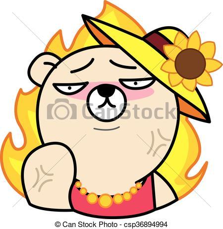 450x462 Angry Bear Cartoon Illustration Eps Vectors