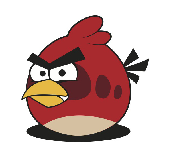 600x550 Free Download Of Red Angry Bird Vector Vector Graphic
