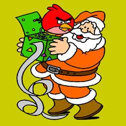 250x250 Angry Birds Christmas Gift Coloring