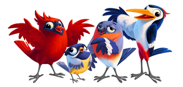 600x286 Group Of Birds Clipart Royalty Free Flock Clip Art Vector Images