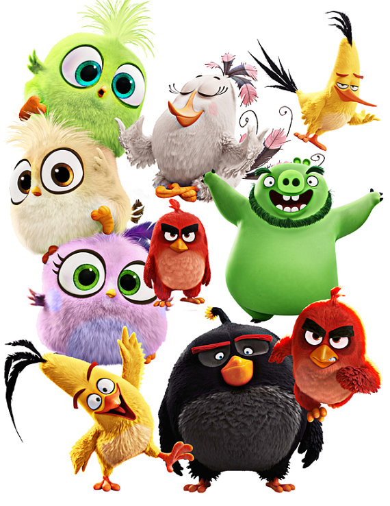 570x738 Angry Birds Image, Instant Download [[8 Items]] Art Supplies