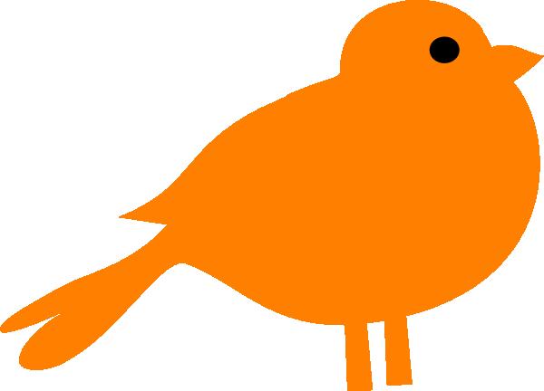 600x432 Little Orange Bird Clip Art