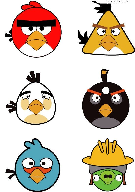 550x781 Angry Birds Face Clipart