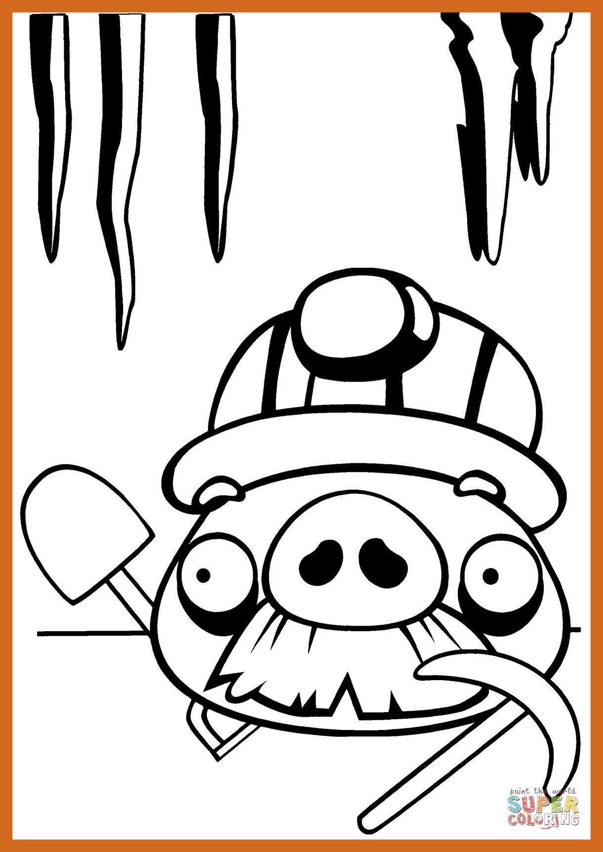1221x1725 Angry Birds Pig Coloring Pages