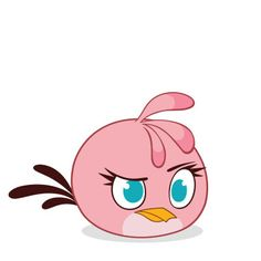 236x236 Cute Lovely Stella From Angry Birds Coloring Pages Online Fun