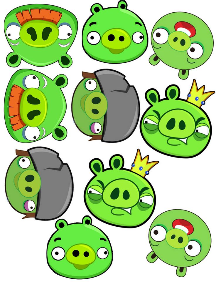 photograph regarding Angry Birds Printable Faces titled Indignant Birds Pig Clipart at  No cost for