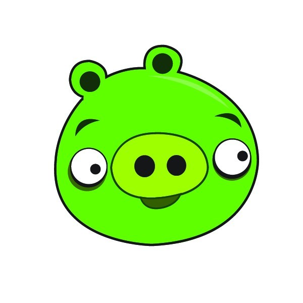 600x600 Angry Birds Pig Clipart