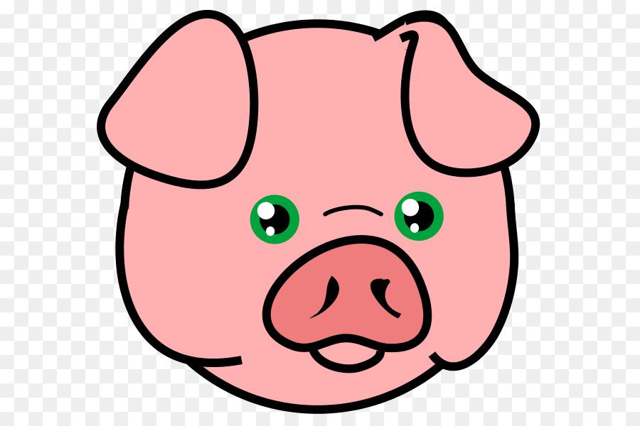900x600 Domestic Pig Face Drawing Clip Art