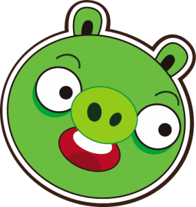 285x300 Picture Angry Birds Opponent, A Smiling Green Pig