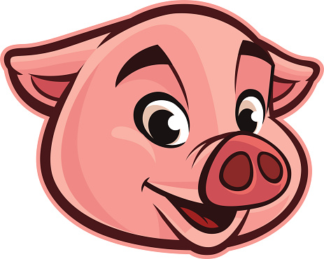 463x370 Collection Of Pig Head Clipart High Quality, Free Cliparts
