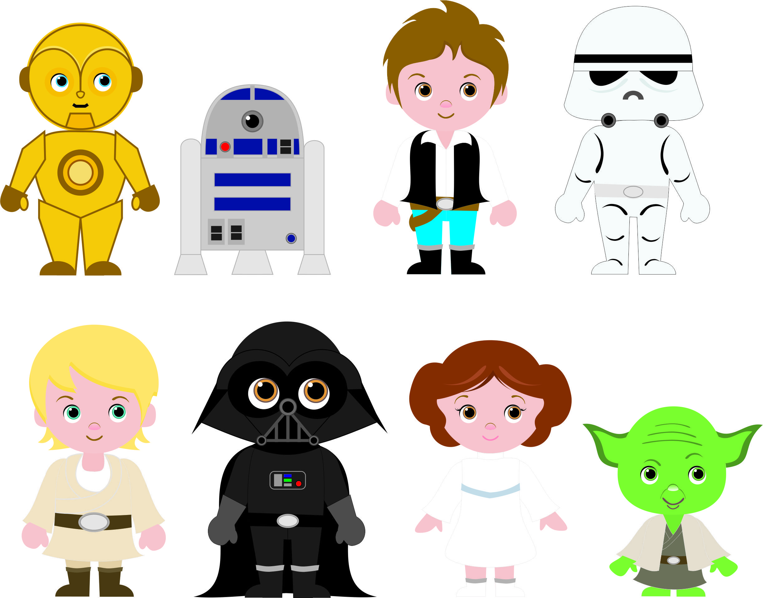 2444x1917 Cliparts Fofinhos Para Festa Star Wars Cute Cliparts For Star Wars