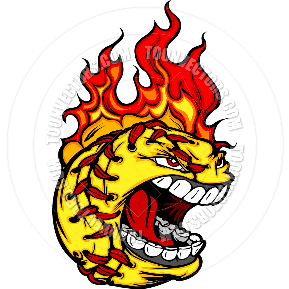 940x940 Fire Clipart Softball