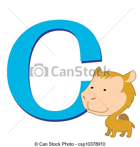 450x470 Illustration Of Isolated Animal Alphabet C With Camel On Vector