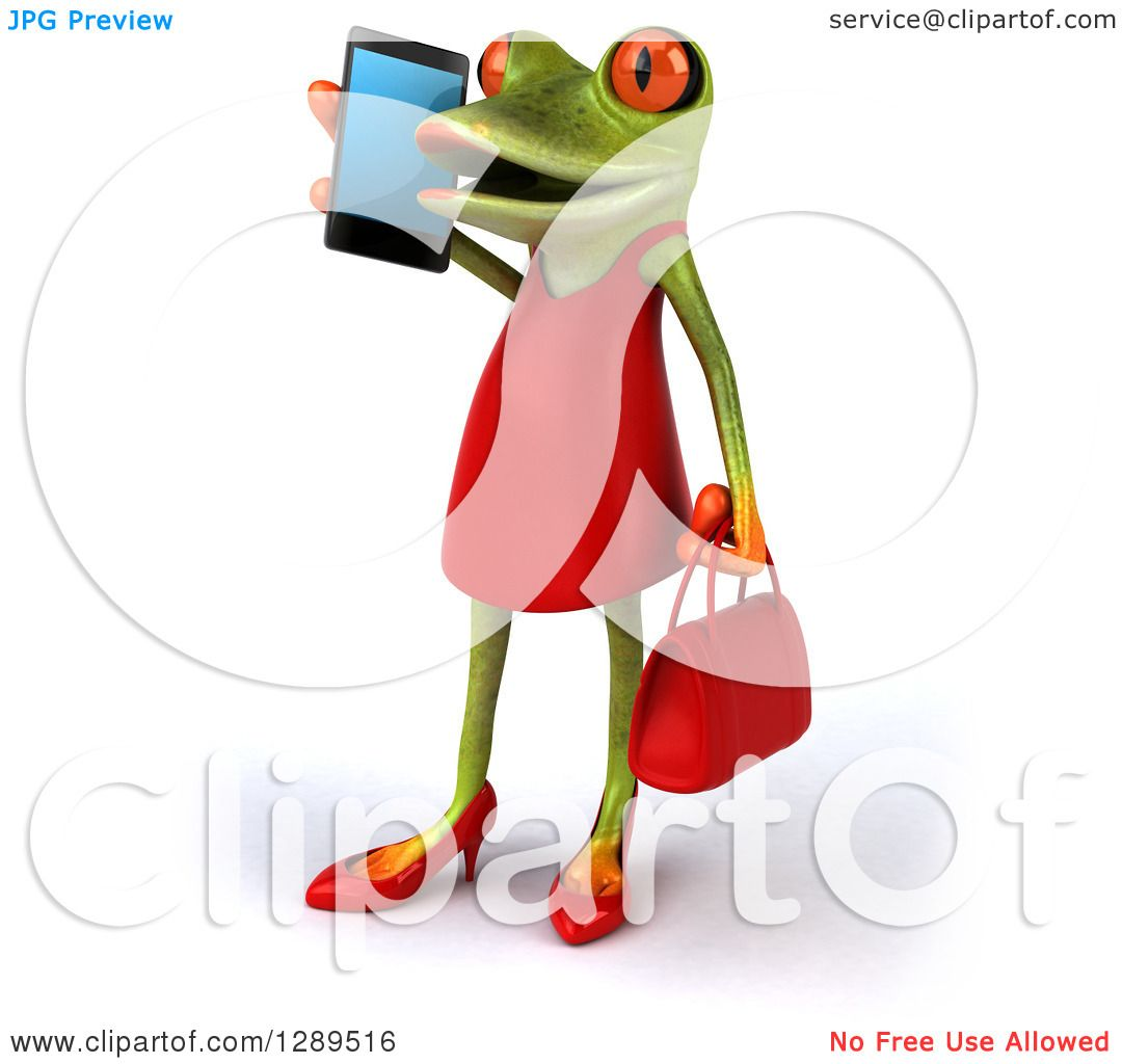 1080x1024 Animal Clipart Of A 3d Green Female Springer Frog Facing Slightly