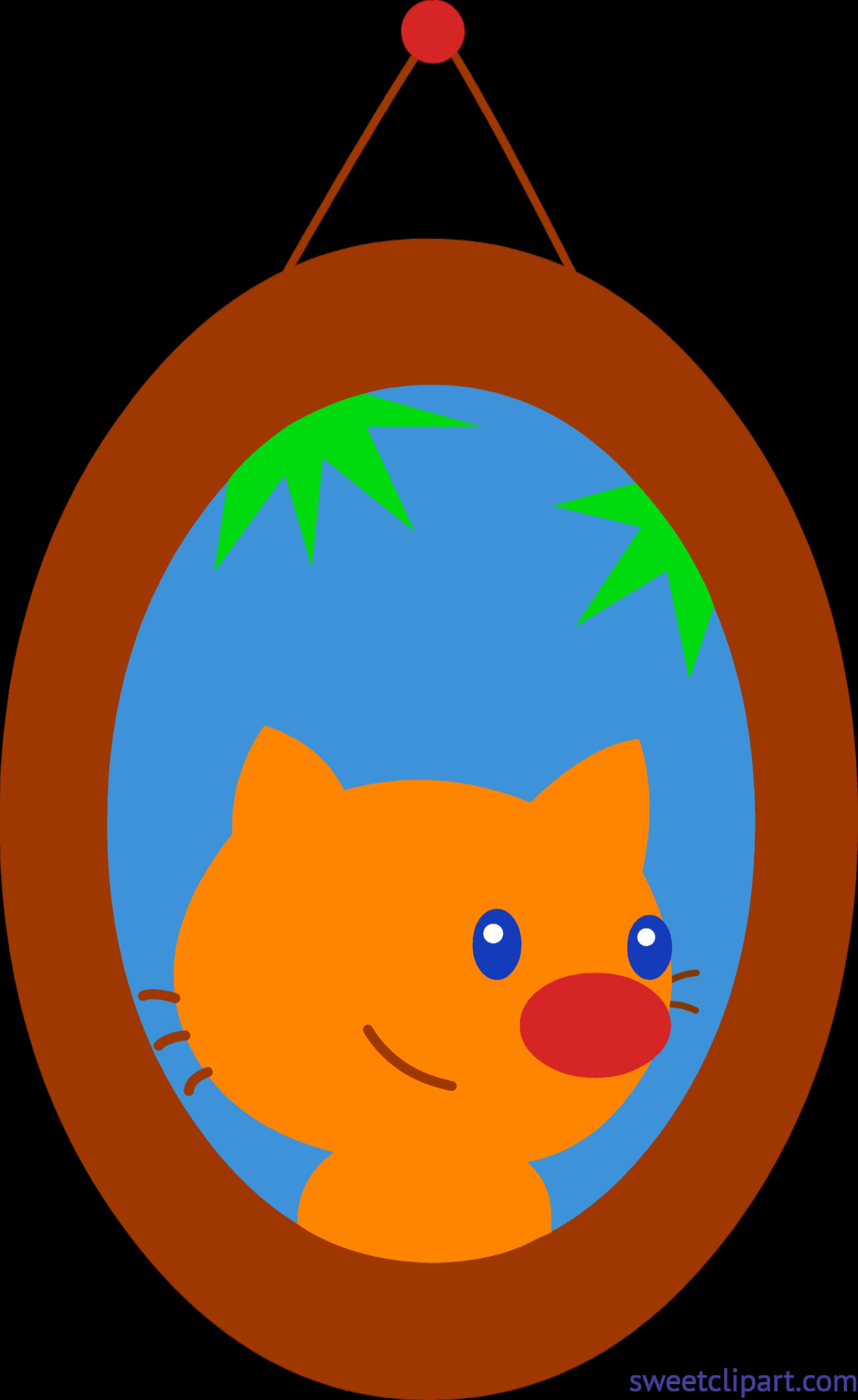 3282x5358 Pet Cat Framed Portrait Clip Art
