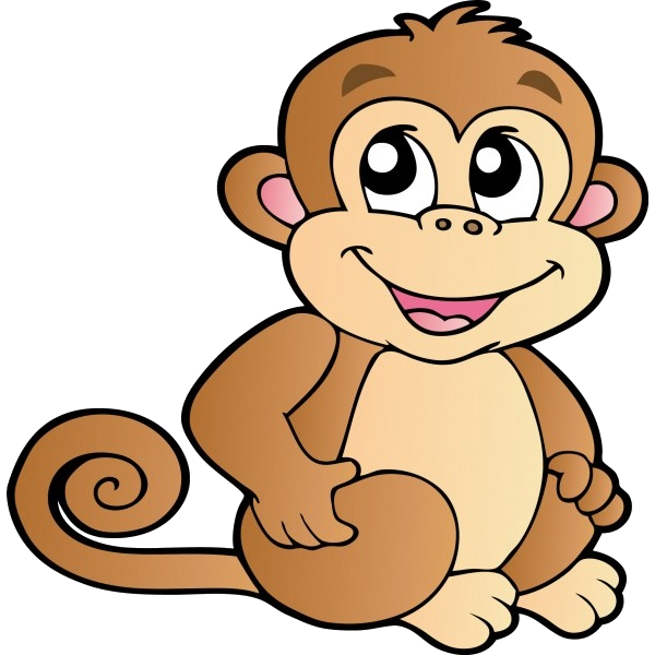 600x600 Funny Baby Monkeys Cartoon Clip Art Images On A Transparent
