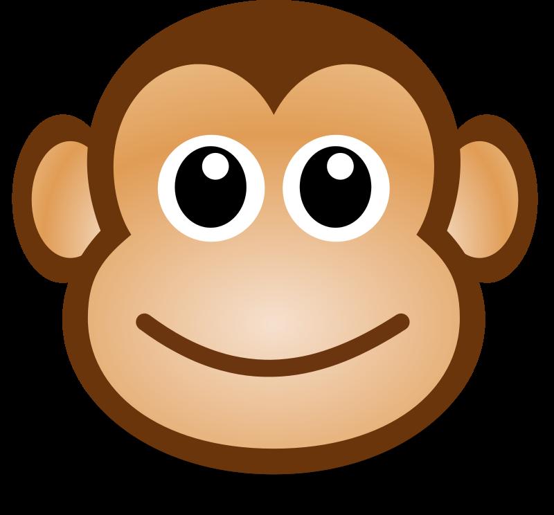 800x744 Free Clipart Funny Monkey Face Martouf
