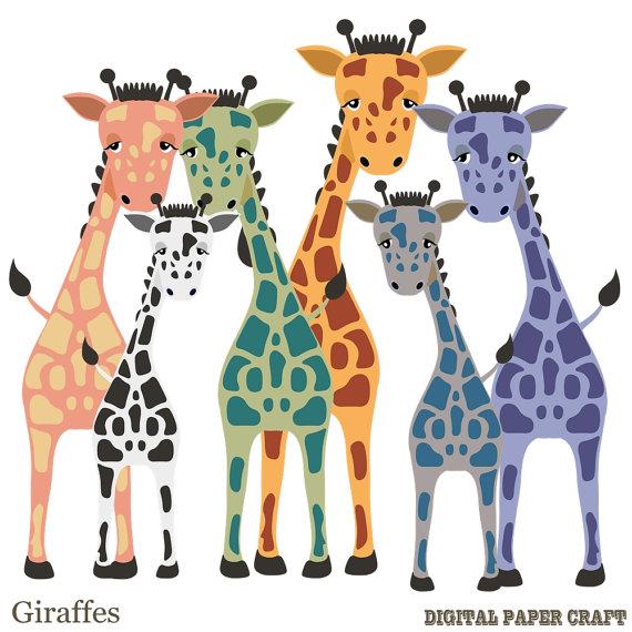 570x570 Giraffe Clipart Hand Drawn Printable Giraffe Digital