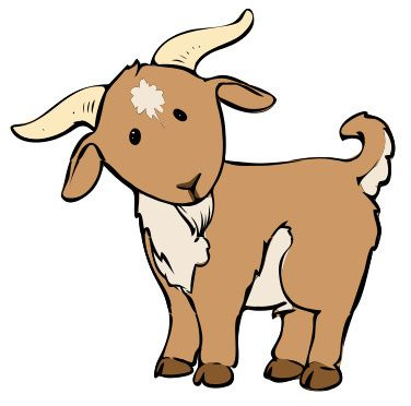 376x372 Goat Clip Art Goats Goats, Clip Art And Woodburning