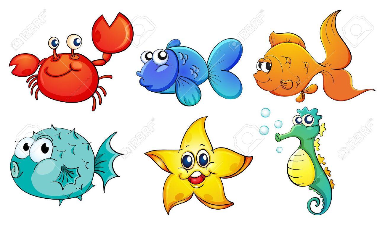 1300x761 Free Clipart Sea Creatures Amp Free Clip Art Sea Creatures Images