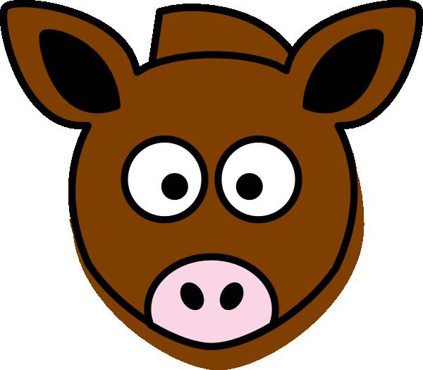 600x524 Donkey Head Clip Art