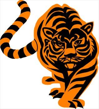318x350 Tiger Head Clip Art