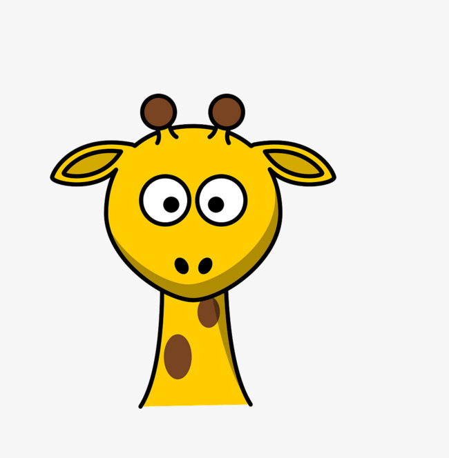 650x664 Black Lines Animal Head Giraffe, Black, Line, Animal Png Image