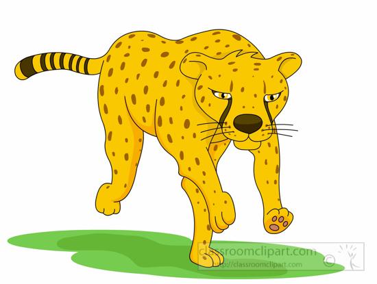 550x415 Cheetah Footprints Clip Art