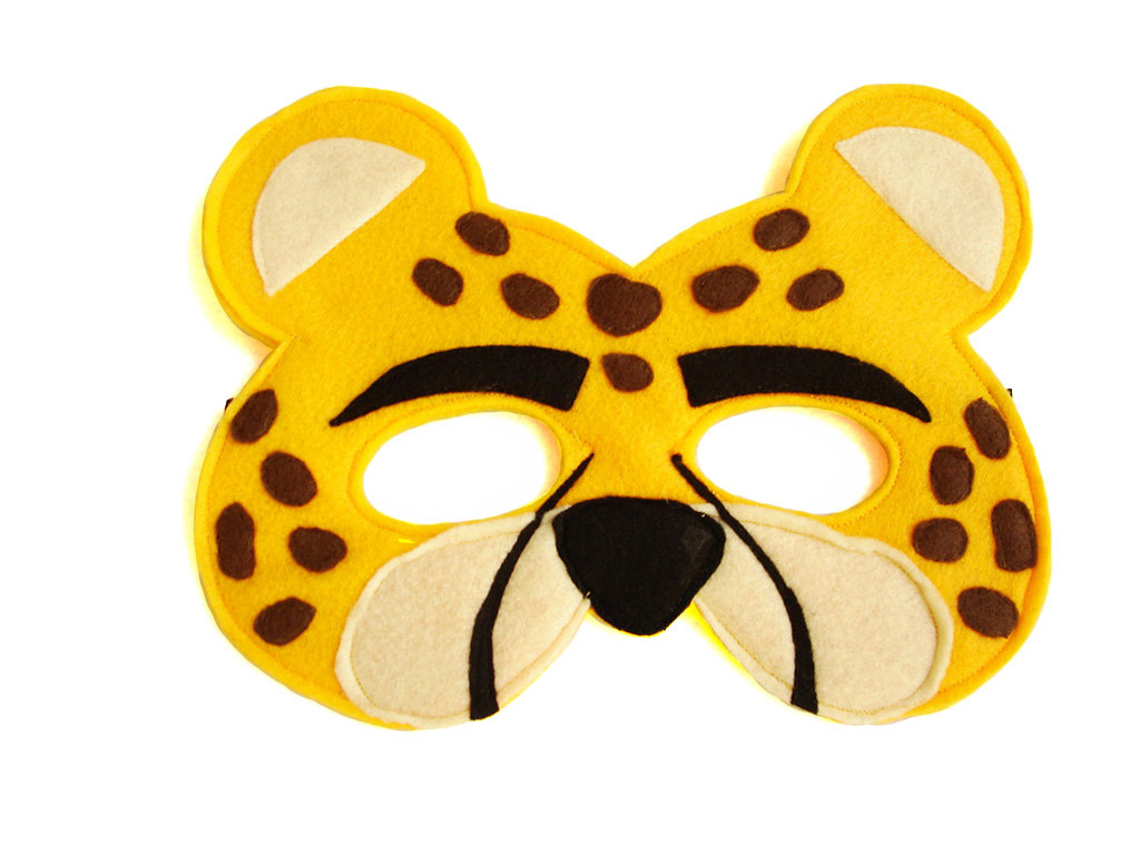 1024x768 Children's Safari Animal Cheetah Felt Mask Magical Attic