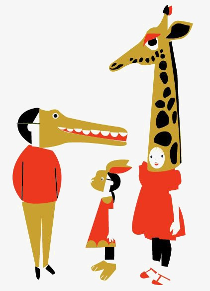 422x584 Creative Mask, Animal Masks, Family, Giraffe Png Image And Clipart