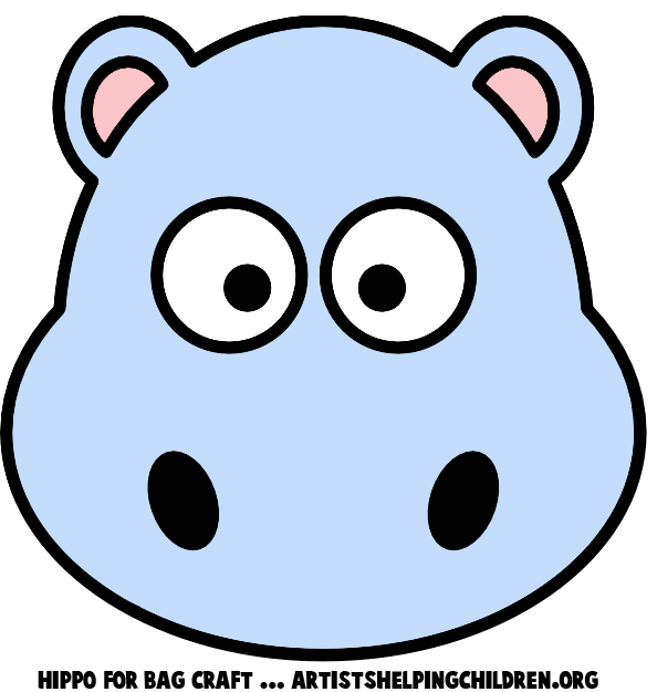 594x625 Hippo Clipart Mask