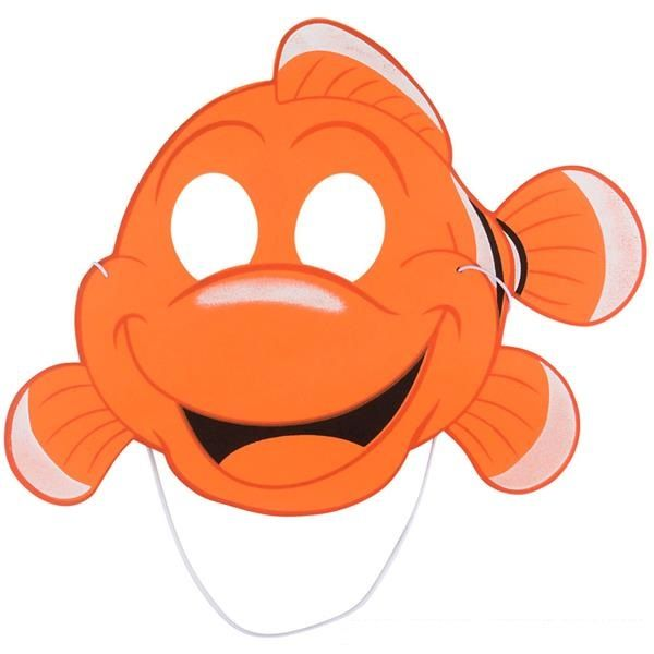 600x600 Kids Foam Clownfish Nemo Mask