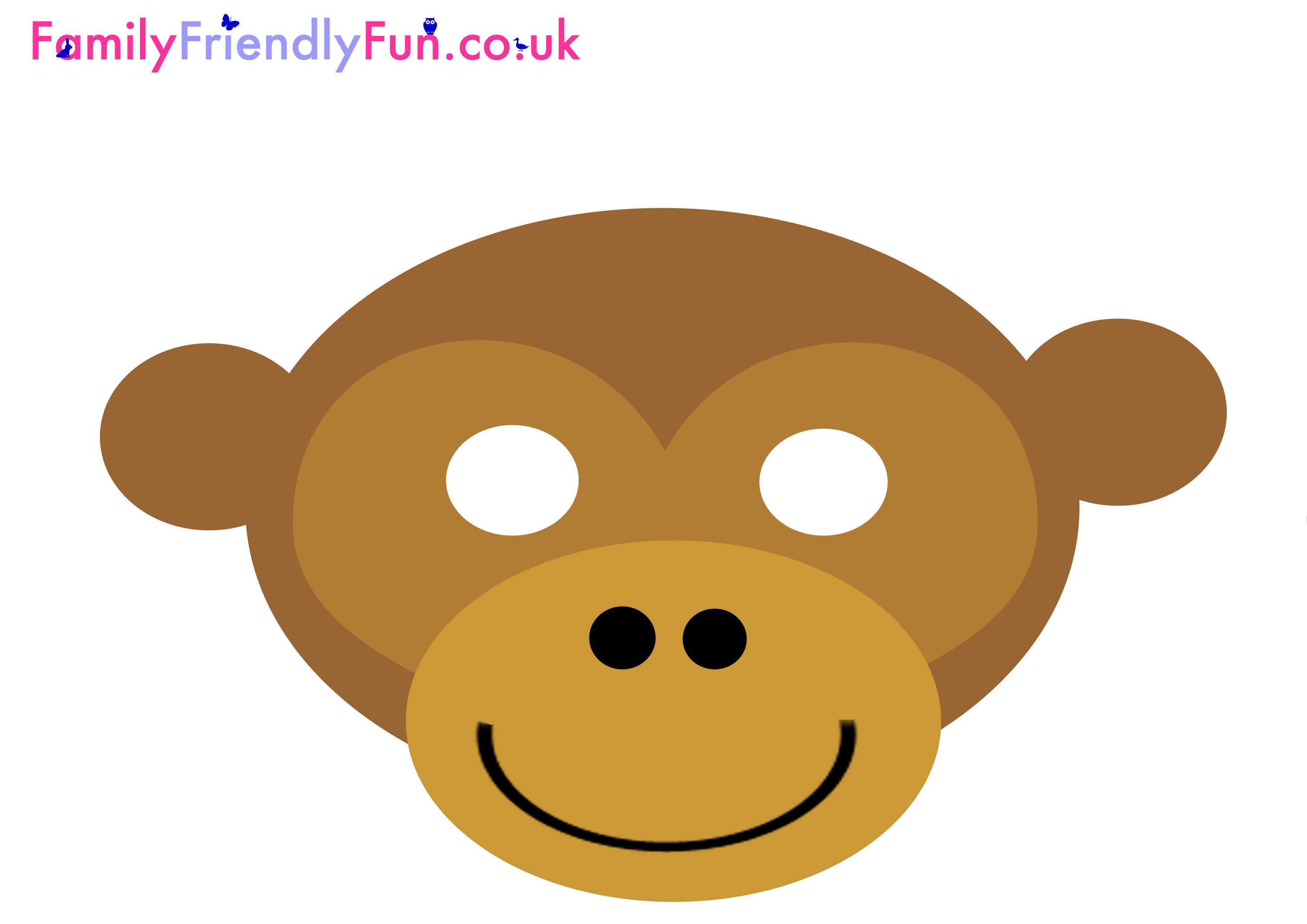 3508x2480 Monkey Mask Clipart