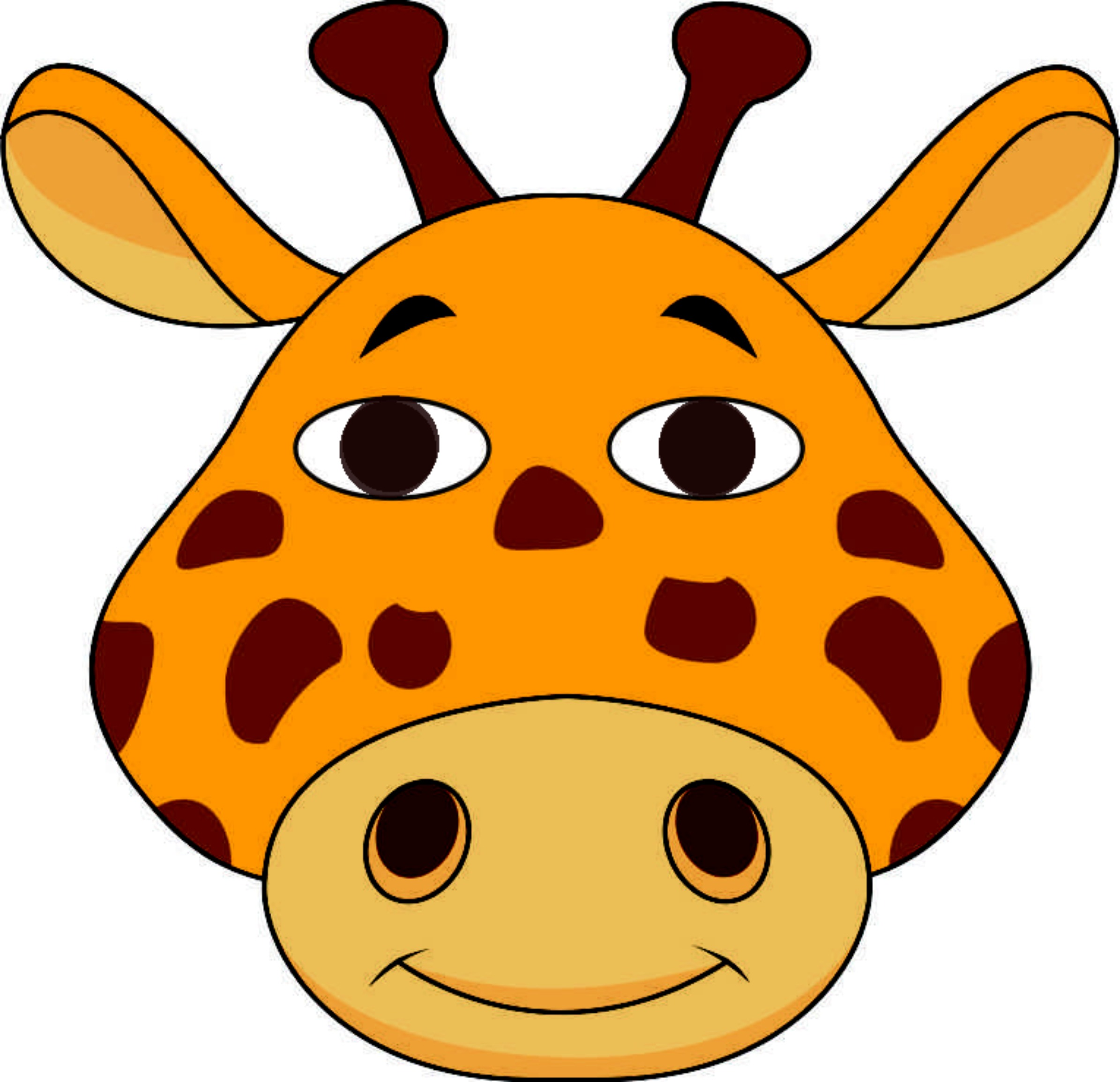 2390x2309 Animal Mask Giraffe Kit Or Ready To Wear Great For Parties And Fun