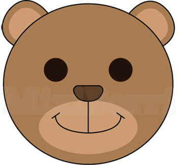 350x325 Bear Clip Art Easy