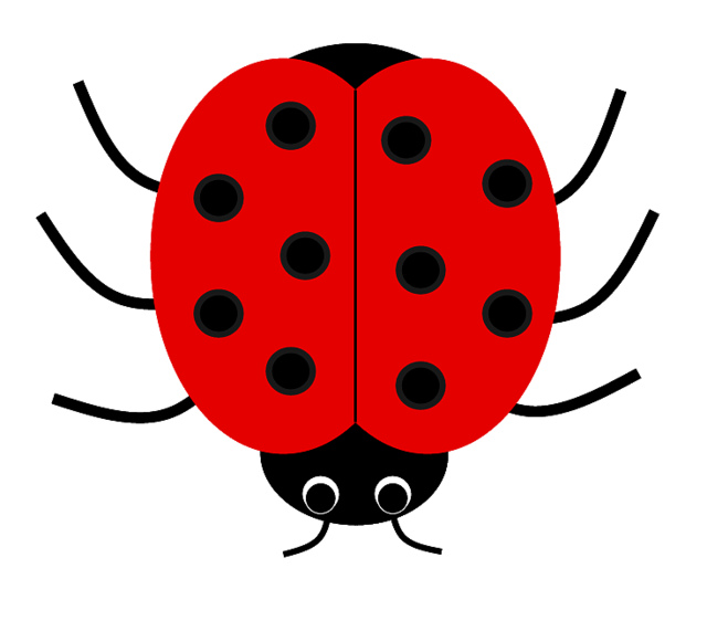 640x562 Photos Of Ladybug Outline Template Free Clip Art 3