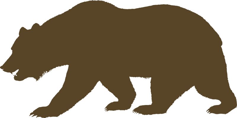 800x400 Bear Singing Clipart Outline