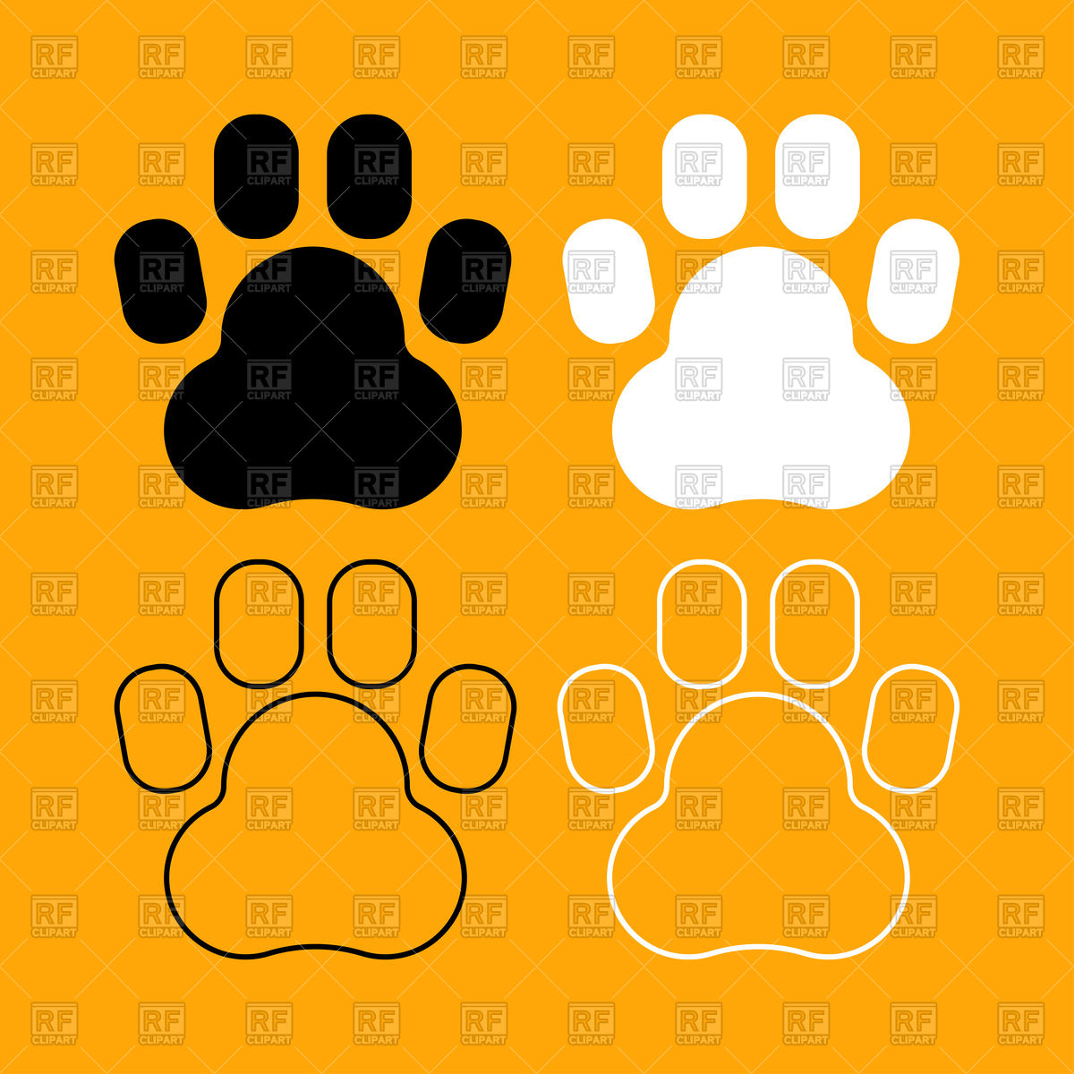 1200x1200 Animal Footprint