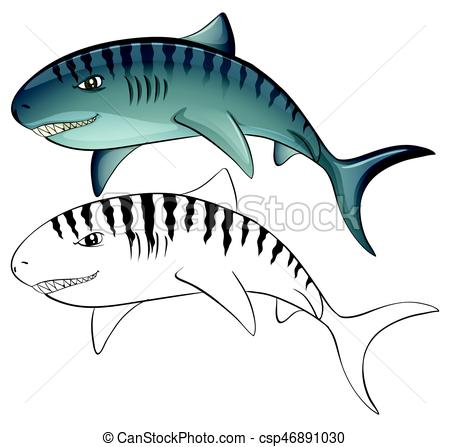 450x447 Animal Outline For Shark Illustration Vectors