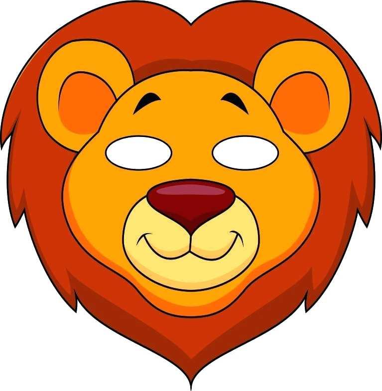 767x785 Animal Mask Coloring Pages Jungle Masks Lion Color Fuhrer Von