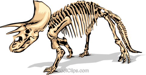 480x249 Dinosaur Bones Royalty Free Vector Clip Art Illustration Anim1380