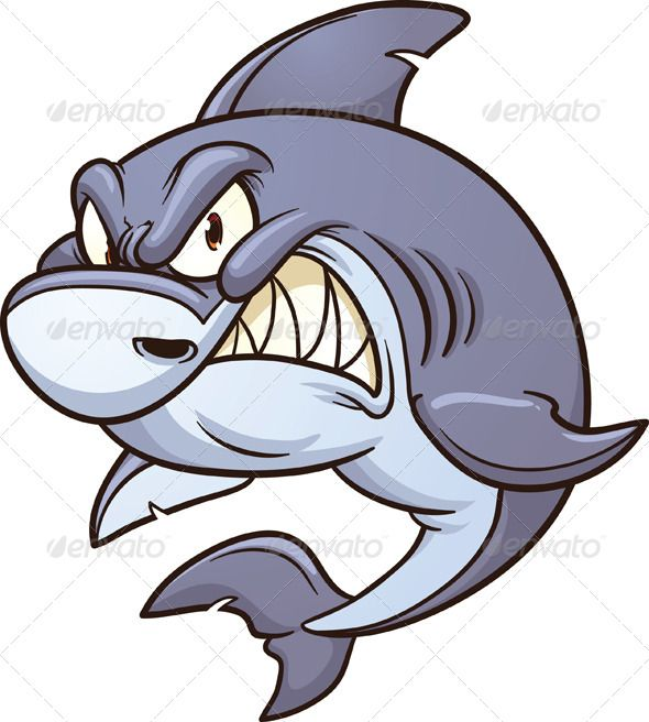 590x656 Angry Shark Shark, Art Illustrations And Clip Art