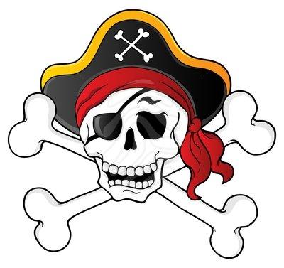 400x377 Clip Art Pirate Skull Clipart