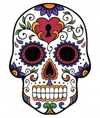 348x411 Fancy Sugar Skull Clipart