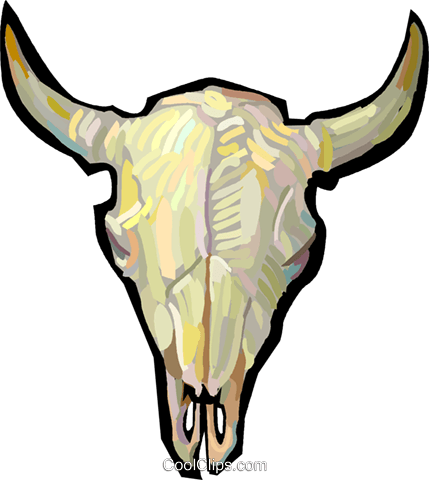 429x480 Bull Skull Royalty Free Vector Clip Art Illustration Vc048238