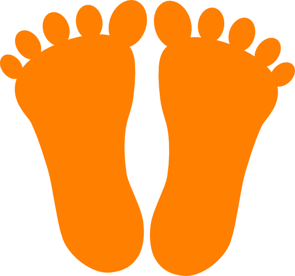 600x561 Footprint Clipart Orange Small Footprints Clip Art At Clker Com