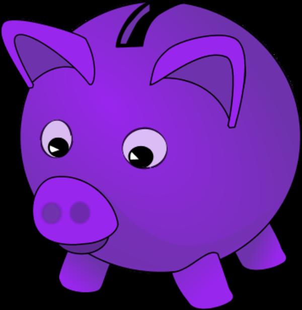 600x617 Piggy Bank Clip Art
