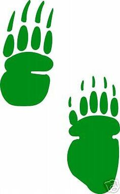 236x380 Large Dog Track Footprint Sticker Animal Paw Print Decal